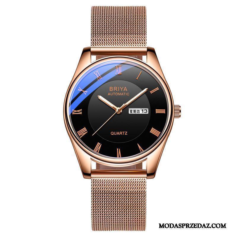 Zegarek Na Rękę Męskie Tanie Trendy Nowy Student Automatycznie 2019 Złoty